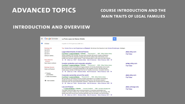 Still large mlea   class 1  part 1   introduction to the course the main traits of legal families  voigt